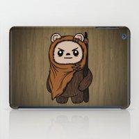 ewok iPad Cases featuring Cartoon Ewok by Team Rapscallion