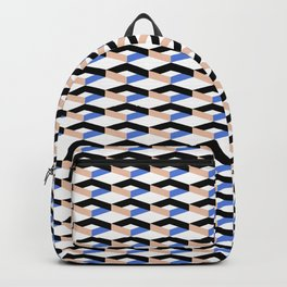 Retro Geometric Abstract Repeat Pattern Backpack