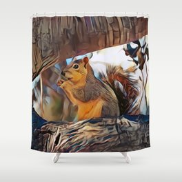 Tree top scoundrel Shower Curtain
