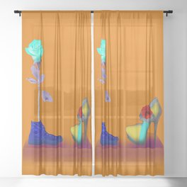 Proposal to May in May - Shoes stories Sheer Curtain
