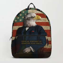 Official Portrait of Senator Silas Eagle Backpack