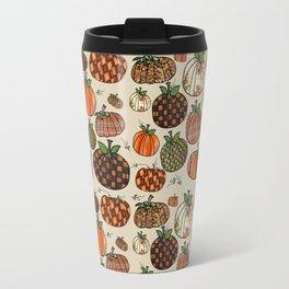 Fall Pumpkin Pattern Travel Mug