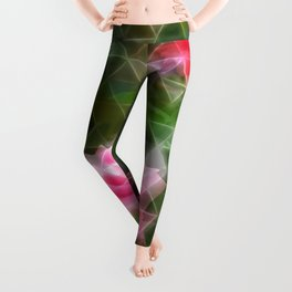 Pink Roses in Anzures 5 Art Triangles 2 Leggings