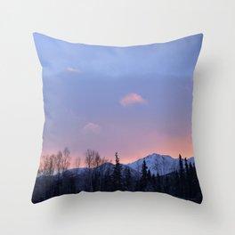 Chugach Mts Serenity Sunrise - II Throw Pillow
