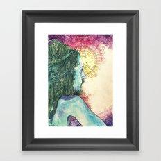 Inhale, Exhale. Introspect Framed Art Print