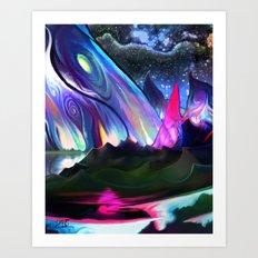 Rainbow hills Art Print