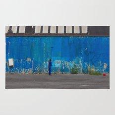 Paint it blue Rug