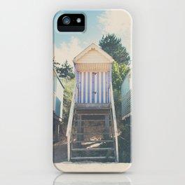 beach huts photograph iPhone Case