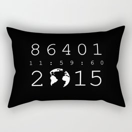86401 Leap Second 2015 (white version) Rectangular Pillow