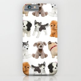 Fluffy Puppy Dog Kids Pattern iPhone Case