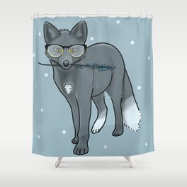 Geekery and Romance Shower Curtain