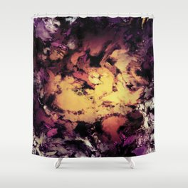 A repeated immersion Shower Curtain