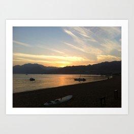 Set sail in the sun set Art Print
