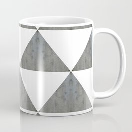 Cement White Triangles Coffee Mug
