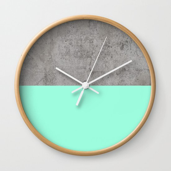 Sea on Concrete Wall Clock by cafelab Society6