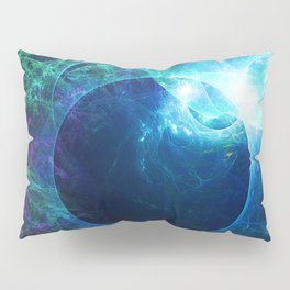 Abstract colorful shiny print graphic with planet space Pillow Sham
