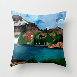 Cecret Lake. Utah. Throw Pillow