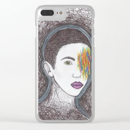 Eyeless Night Clear iPhone Case
