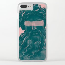 Pink Greek Clear iPhone Case