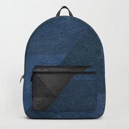 Geometric - Blue Backpack