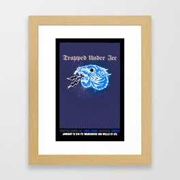 Trapped Under Ice Framed Art Print