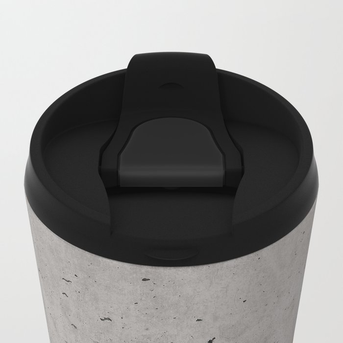 Concrete, rusted iron, marble abstract Metal Travel Mug