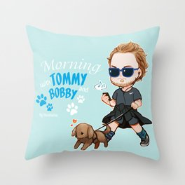 Tom and Bobby Throw Pillow
