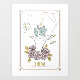 Libra Zodiac Series Art Print