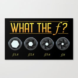 What the F? Canvas Print