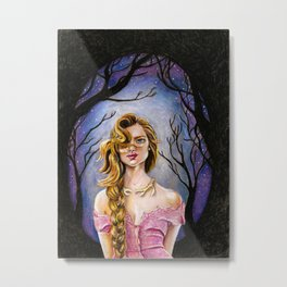 Lady Brighton Metal Print
