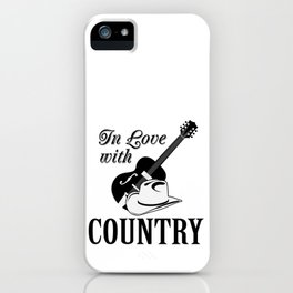 In love with country iPhone Case
