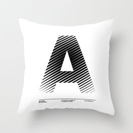 The Letter A Throw Pillow