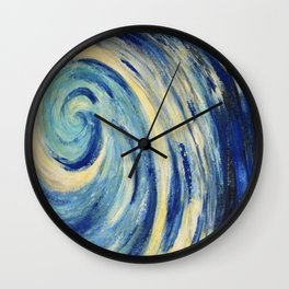 Sea wave image of abstract painting  Wall Clock