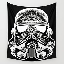 Mandala Stormtrooper - White. A loyal solider.  Wall Tapestry