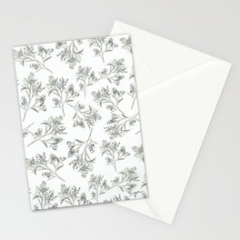 'tossed greens' - botanical pattern Stationery Cards