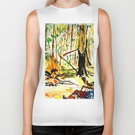 Camp Fire             by Kay Lipton Biker Tank