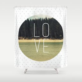 LOVE Print Shower Curtain