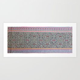 Song to Bring Blessings to a Marriage - Traditional Shipibo Art - Indigenous Ayahuasca Patterns Art Print