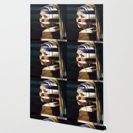 """Vermeer's """"Girl with a Pearl Earring"""" & Grace Kelly Wallpaper"""