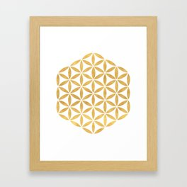 FLOWER OF LIFE sacred geometry Framed Art Print