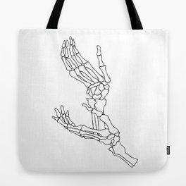Halloween Skeleton Hands Presents Hoodie spooky horror fan Tote Bag