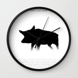 That's just boar - Paris Wall Clock