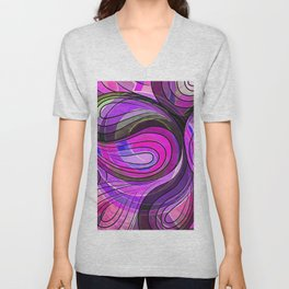 So Nothing Is Created Perfect - Charcoal Rose Water Unisex V-Neck