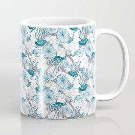 Underwater World with Jellyfishes dance Coffee Mug