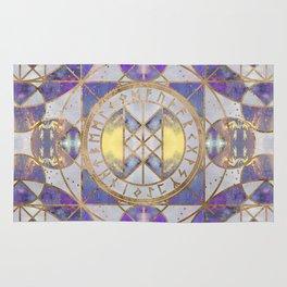 Web of Wyrd - Purple Painted Texture Rug