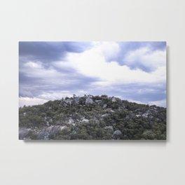 Storm Threatened Mountain Metal Print