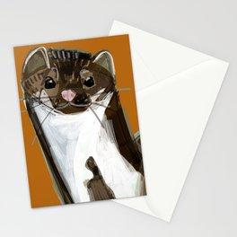 Sweet Stone Marten ( Martes foina ) Stationery Cards