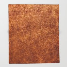 Brown vintage faux leather background Throw Blanket