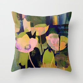 3 abstract flowers  https://society6.com/clemm?promo=X9B3VVZDM7J6 Throw Pillow