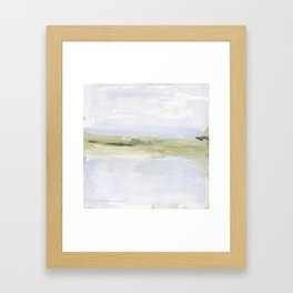 Painting of coastal, beach, ocean Framed Art Print